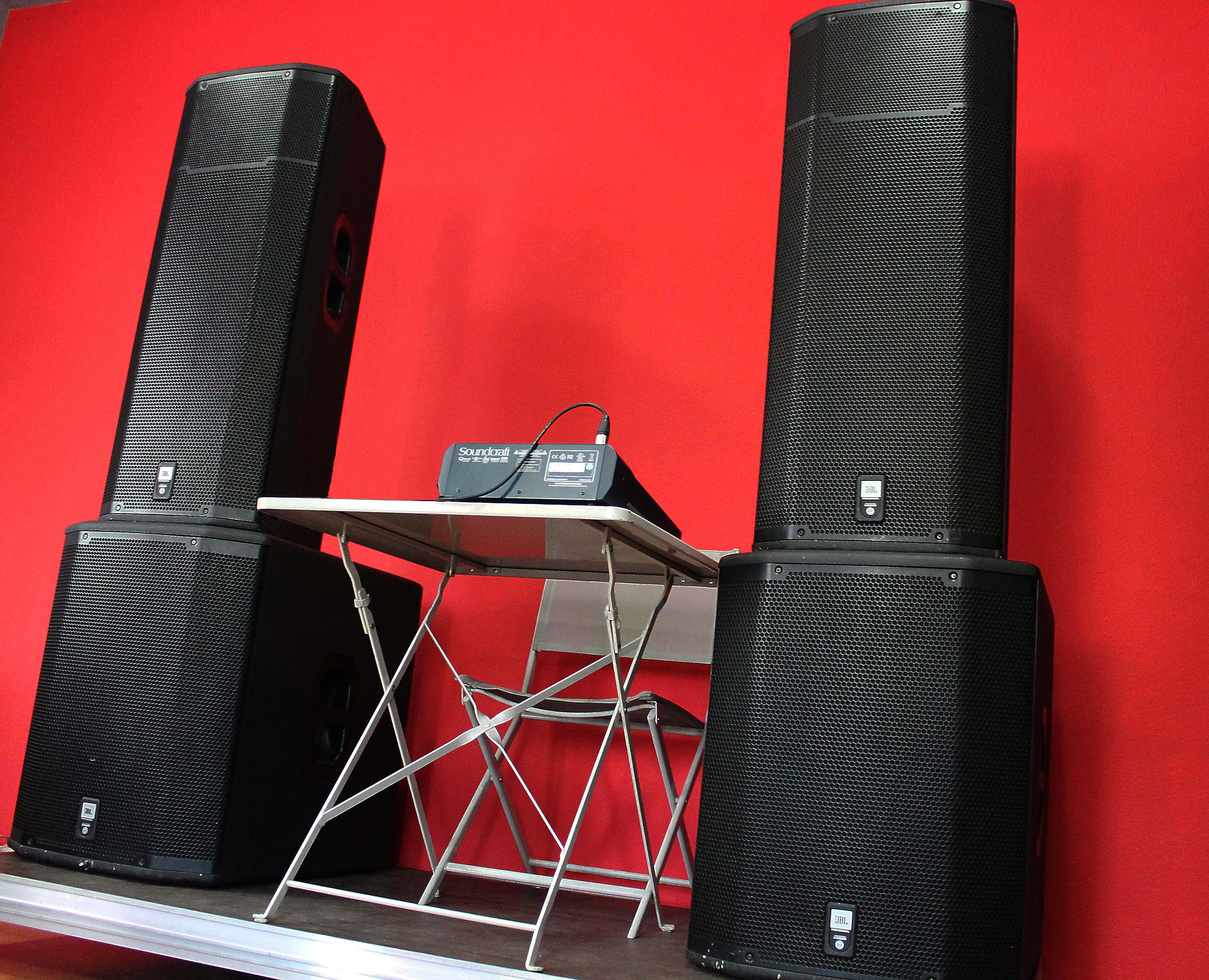 Аренда звукового комплекта 2xJBL PRX625+2xJBL PRX628XL+микшерный пульт в Украине