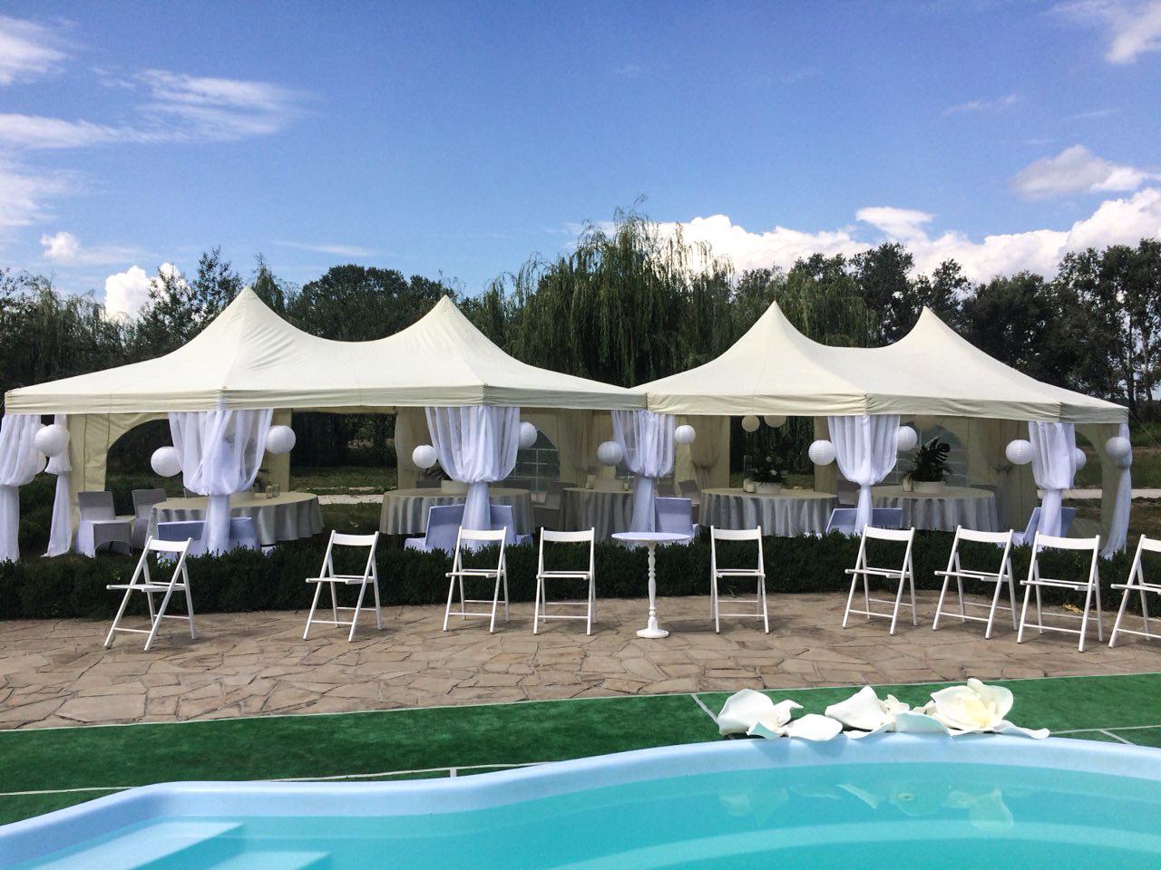Аренда двухкупольного шатра для свадьбы