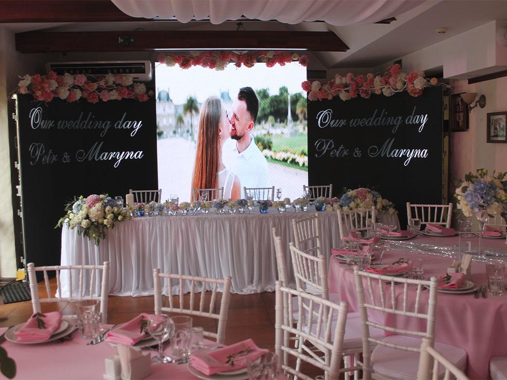 Аренда лед экрана для свадьбы