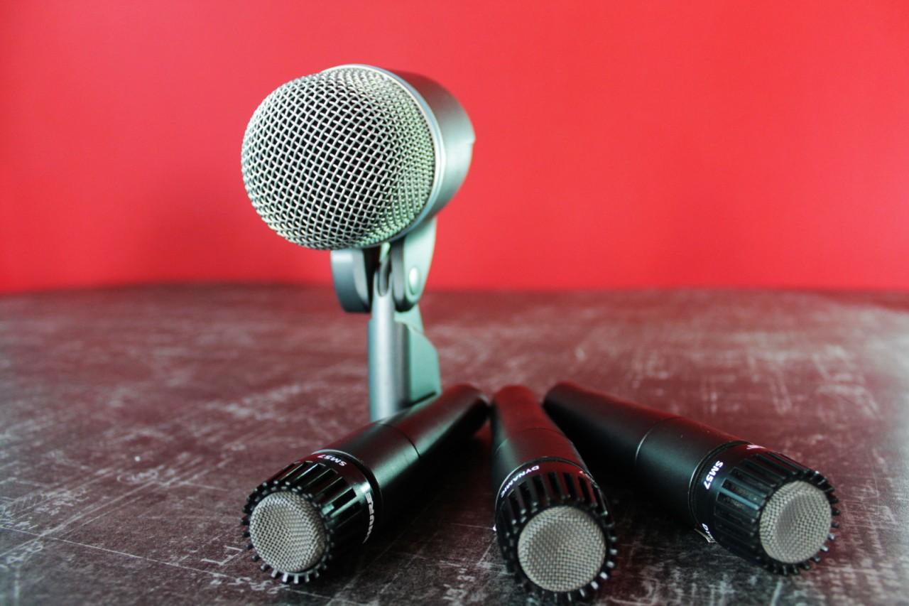 Аренда Комплекта микрофонов для озвучки барабанной установки Shure DMKS5752 в Украине